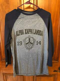 New Super Savings - Alpha Kappa Lambda Dry-Fit Tee - BLUE