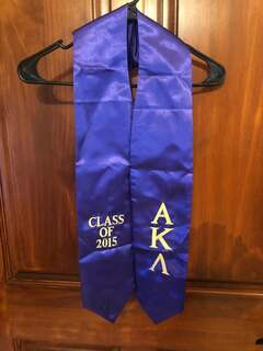 New Super Savings - Alpha Kappa Lambda Embroidered Graduation Sash Stole - PURPLE