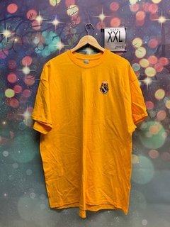 New Super Savings - Alpha Phi Omega Crest - Shield Patch T-Shirt - GOLD