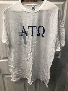New Super Savings - Alpha Tau Omega Greek Crest - Shield T-Shirt - WHITE