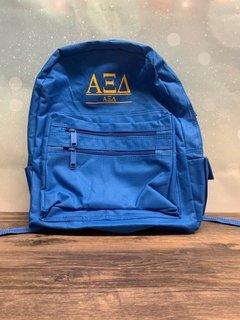 New Super Savings - Alpha Xi Delta Custom Text Backpack - BLUE