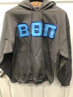 New Super Savings - Beta Theta Pi Lettered Hooded Sweatshirt - GREY