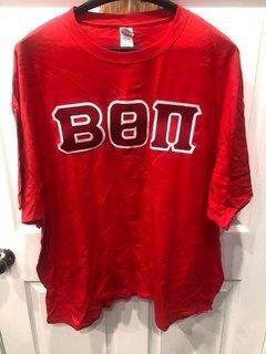 New Super Savings - Beta Theta Pi Lettered T-Shirt - RED