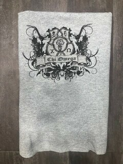 New Super Savings - Chi Omega Sweatshirt Blanket - GREY