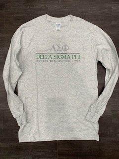 New Super Savings - Delta Sigma Phi Better Men Better Lives Long Sleeve Tee - LIGHT GREY