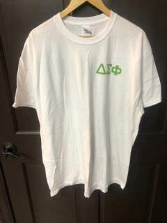 New Super Savings - Delta Sigma Phi Flag T-Shirt - WHITE