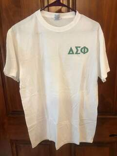 New Super Savings - Delta Sigma Phi World Famous Crest - Shield Tee - WHITE