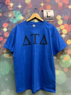 New Super Savings - Delta Tau Delta Letter Tee - BLUE