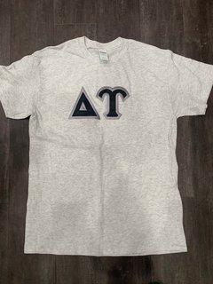 New Super Savings - Delta Upsilon Lettered T-Shirt - LIGHT GREY