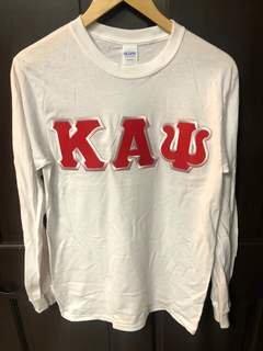 New Super Savings - Kappa Alpha Psi Lettered Long Sleeve - WHITE