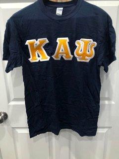 New Super Savings - Kappa Alpha Psi Lettered T-Shirt - NAVY