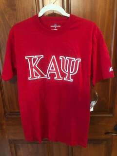 New Super Savings - Kappa Alpha Psi Lettered T-Shirt - RED 1 of 2