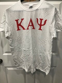 New Super Savings - Kappa Alpha Psi Lettered Tee - WHITE 1 of 2