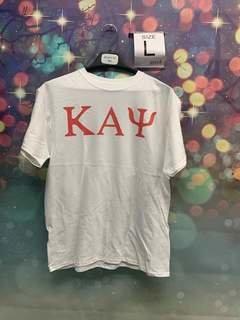 New Super Savings - Kappa Alpha Psi Lettered Tee - WHITE