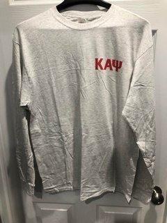 New Super Savings - Kappa Alpha Psi World Famous Crest - Shield Long Sleeve T-Shirt - LIGHT GREY