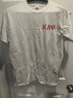 New Super Savings - Kappa Alpha Psi World Famous Crest - Shield Tee - LIGHT GREY