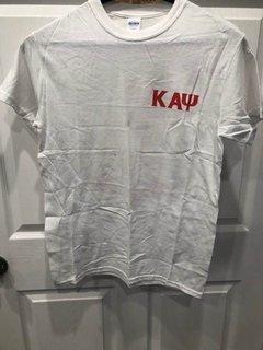 New Super Savings - Kappa Alpha Psi World Famous Crest - Shield Tee - WHITE