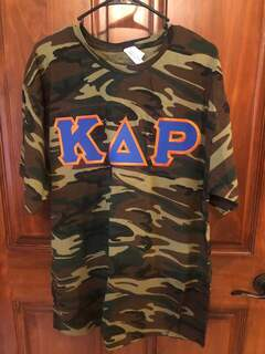 New Super Savings - Kappa Delta Rho Lettered Camouflage T-Shirt - CAMO
