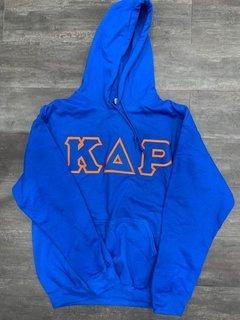 New Super Savings - Kappa Delta Rho Lettered Hooded Sweatshirt - BLUE