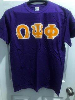 New Super Savings - Omega Psi Phi Lettered T-Shirt - PURPLE