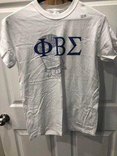 New Super Savings - Phi Beta Sigma Greek Crest - Shield T-Shirt - WHITE