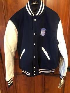 New Super Savings - Phi Beta Sigma Varsity Crest - Shield Jacket - BLUE