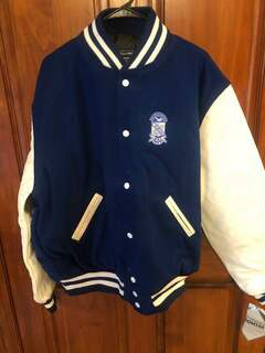 New Super Savings - Phi Beta Sigma Varsity Crest - Shield Jacket - BLUE in size L