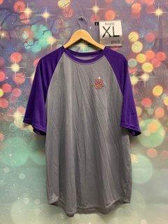 New Super Savings - Phi Gamma Delta Emblem Crest Dry Fit T-Shirt - GREY AND PURPLE
