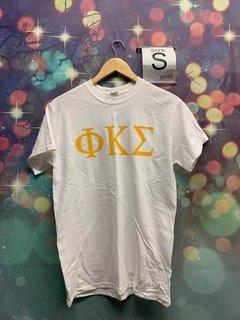 New Super Savings - Phi Kappa Sigma Lettered Tee - WHITE