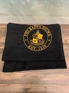 New Super Savings - Phi Kappa Sigma Sweatshirt Blanket - BLACK