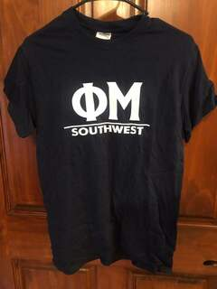New Super Savings - Phi Mu Message T-Shirt - NAVY