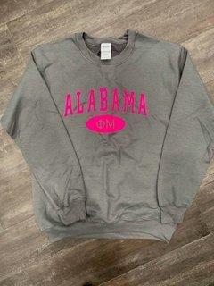 New Super Savings - Phi Mu State Crewneck Sweatshirt - GREY