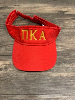 New Super Savings - Pi Kappa Alpha Greek Letter Visor - RED