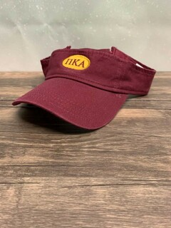 New Super Savings - Pi Kappa Alpha Greek Oval Heavy Visor - MAROON