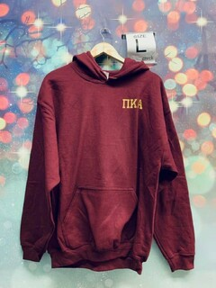 New Super Savings - Pi Kappa Alpha Hooded Sweatshirt - MAROON