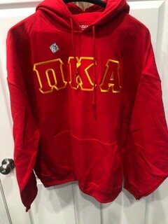 New Super Savings - Pi Kappa Alpha Lettered Hooded Sweatshirt - RED