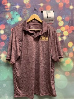 New Super Savings - Pi Kappa Alpha Small Greek Letter Electrify Polo - MAROON