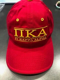 New Super Savings - Pi Kappa Alpha Throwback Game Hat - RED