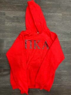New Super Savings - Pi Kappa Alpha World Famous Greek Hoodie - RED