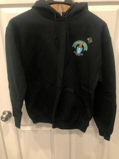 New Super Savings - Sigma Chi Crest - Shield Emblem Hooded Sweatshirt - BLACK