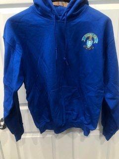 New Super Savings - Sigma Chi Crest - Shield Emblem Hooded Sweatshirt - BLUE