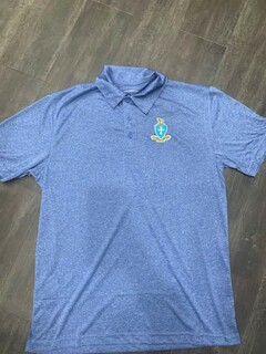 New Super Savings - Sigma Chi World Famous Greek Crest - Shield Contender Polo - BLUE