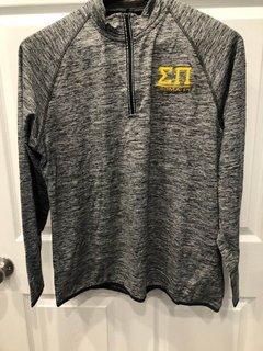 New Super Savings - Sigma Pi Half Zip Pullover - GREY