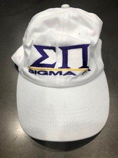 New Super Savings - Sigma Pi World Famous Line Hat - WHITE