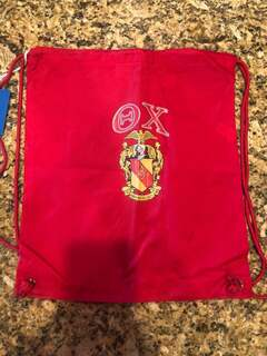 New Super Savings - Theta Chi Crest - Shield Cinch Sack - RED