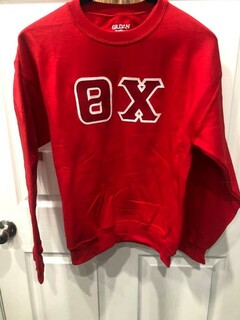 New Super Savings - Theta Chi Lettered Crewneck - RED