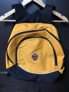 New Super Savings - Triangle Fraternity Crest - Shield Backpack - GOLD