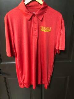 New Super Savings - TRIANGLE World Famous Greek Contender Polo - RED