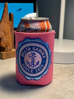 Sorority Embroidered Seal Can Cooler