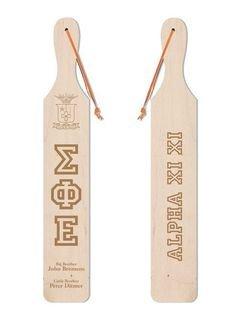 Old School Wood Greek Paddle